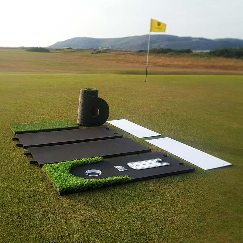 Simple install artificial golf putting training green and training aids