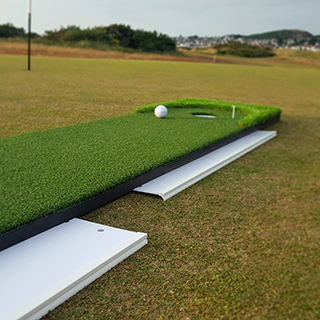 Create right-to-left or left-to-right sloping putts