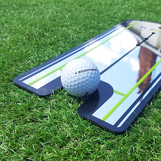Golf putting training mirror